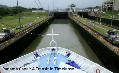 Panama Canal transit in timelapse video
